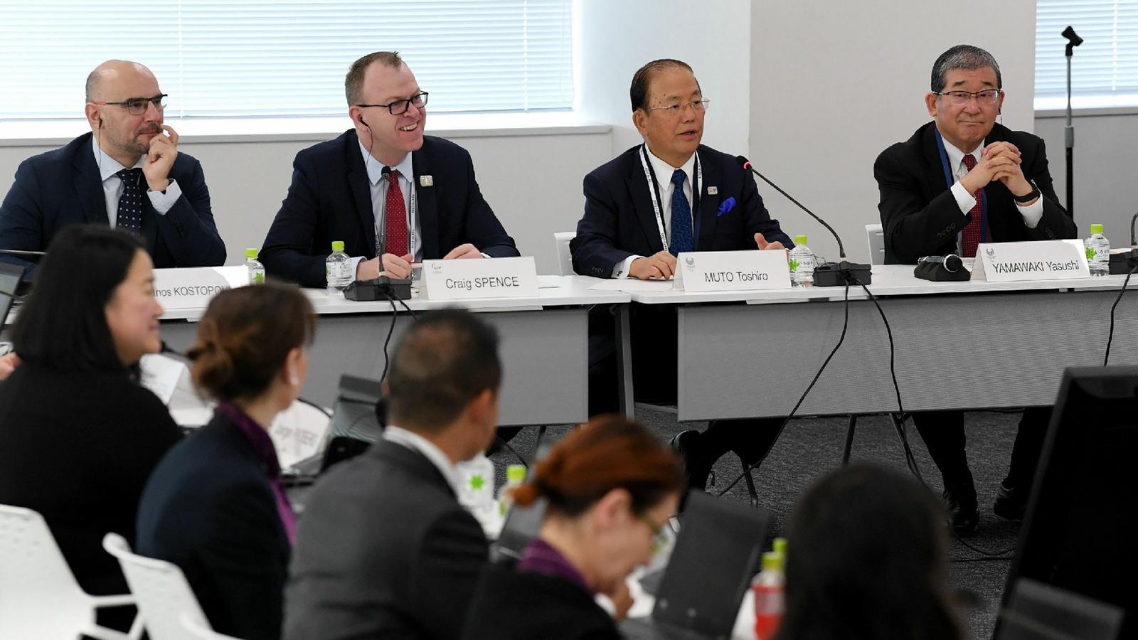 Imatge d'una reunó del comitè organitzadors dels Jocs Olímpics de Tòquio 2020