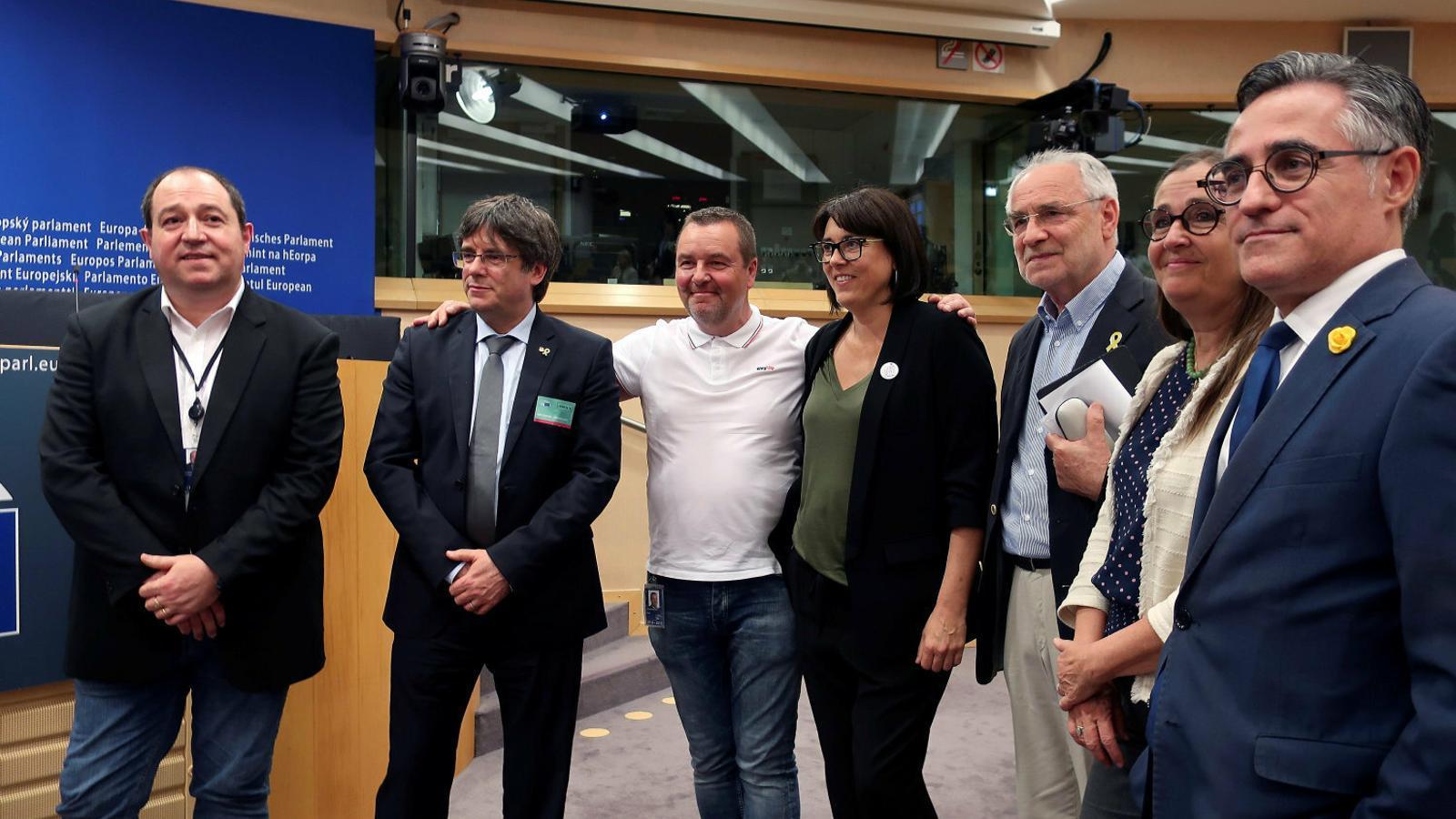 L'expresident de la Generalitat, Carles Puigdemont, en una visita al Parlament Europeu / AÏDA SÁNCHEZ ALONSO / EFE