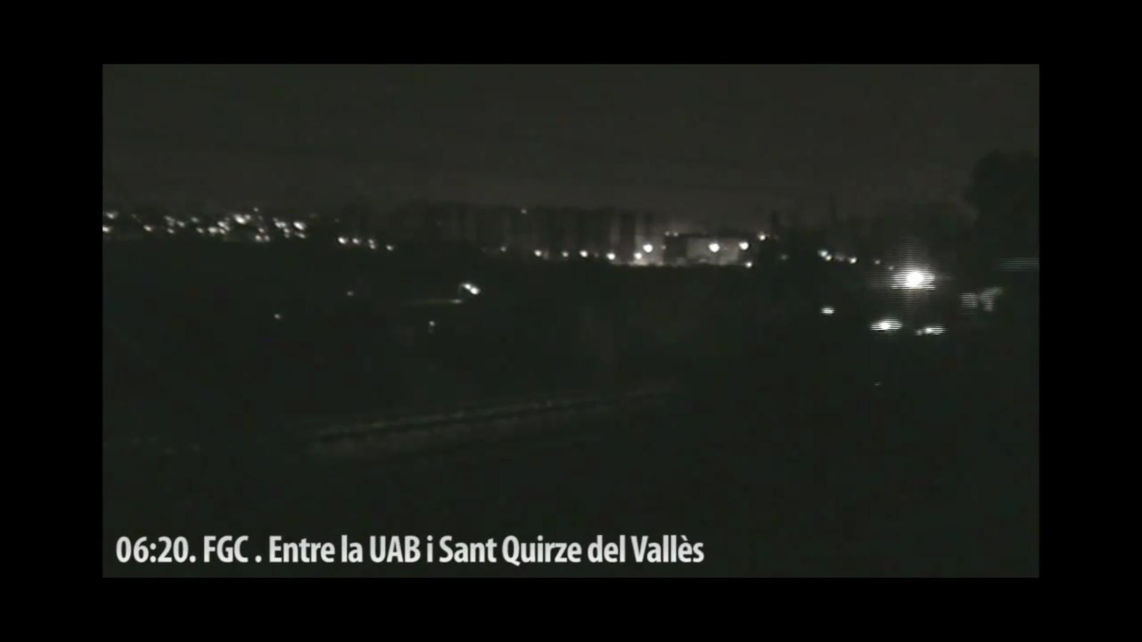 El sabotatge dels FGC entre l'Autònoma i Sant Quirze