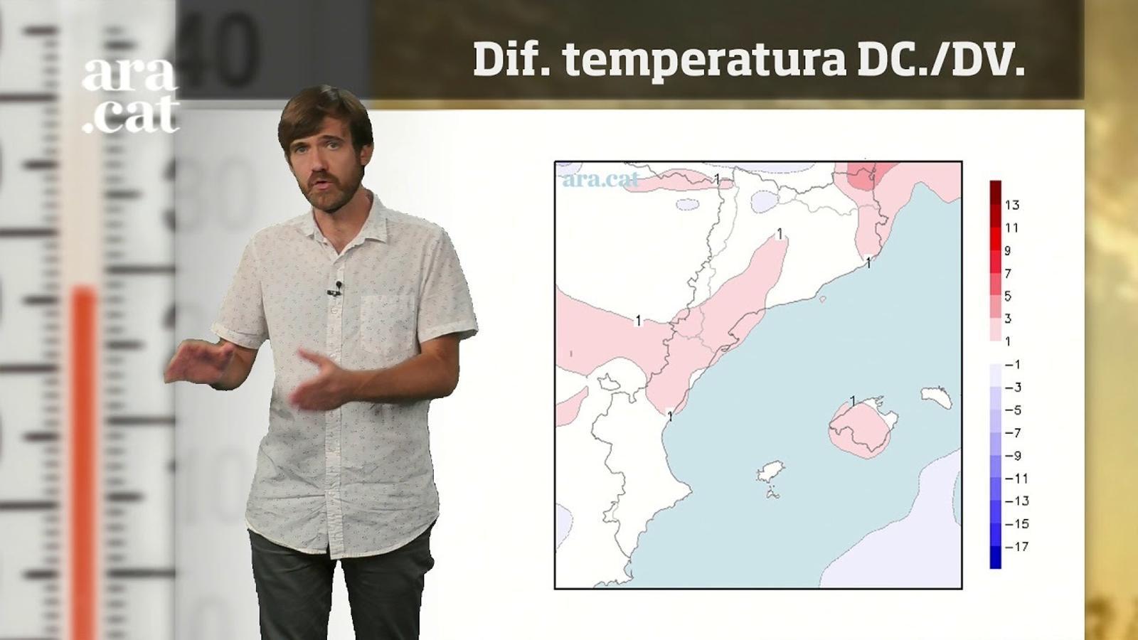 La méteo en 1 minut: tempestes irregulars i xafogor d'estiu