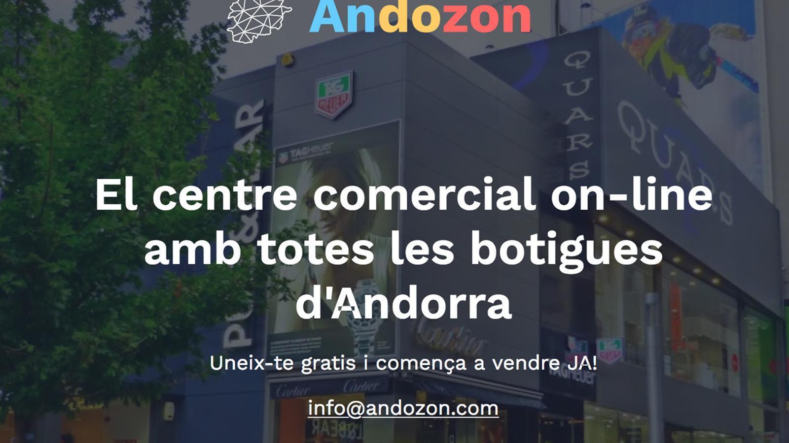 Una imatge de la plataforma Andozon.