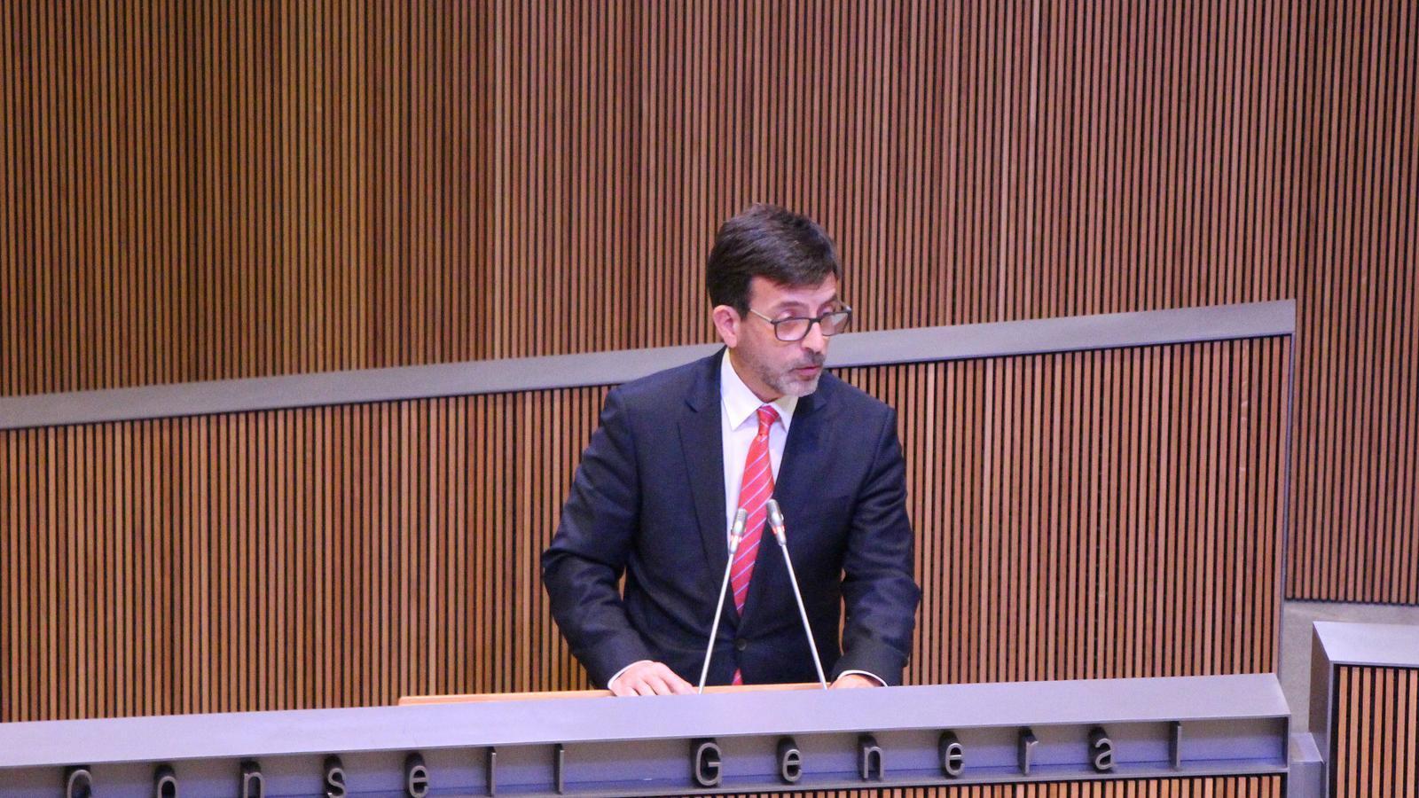 El ministre de Finances, Jordi Cinca. / M. F. (ANA)