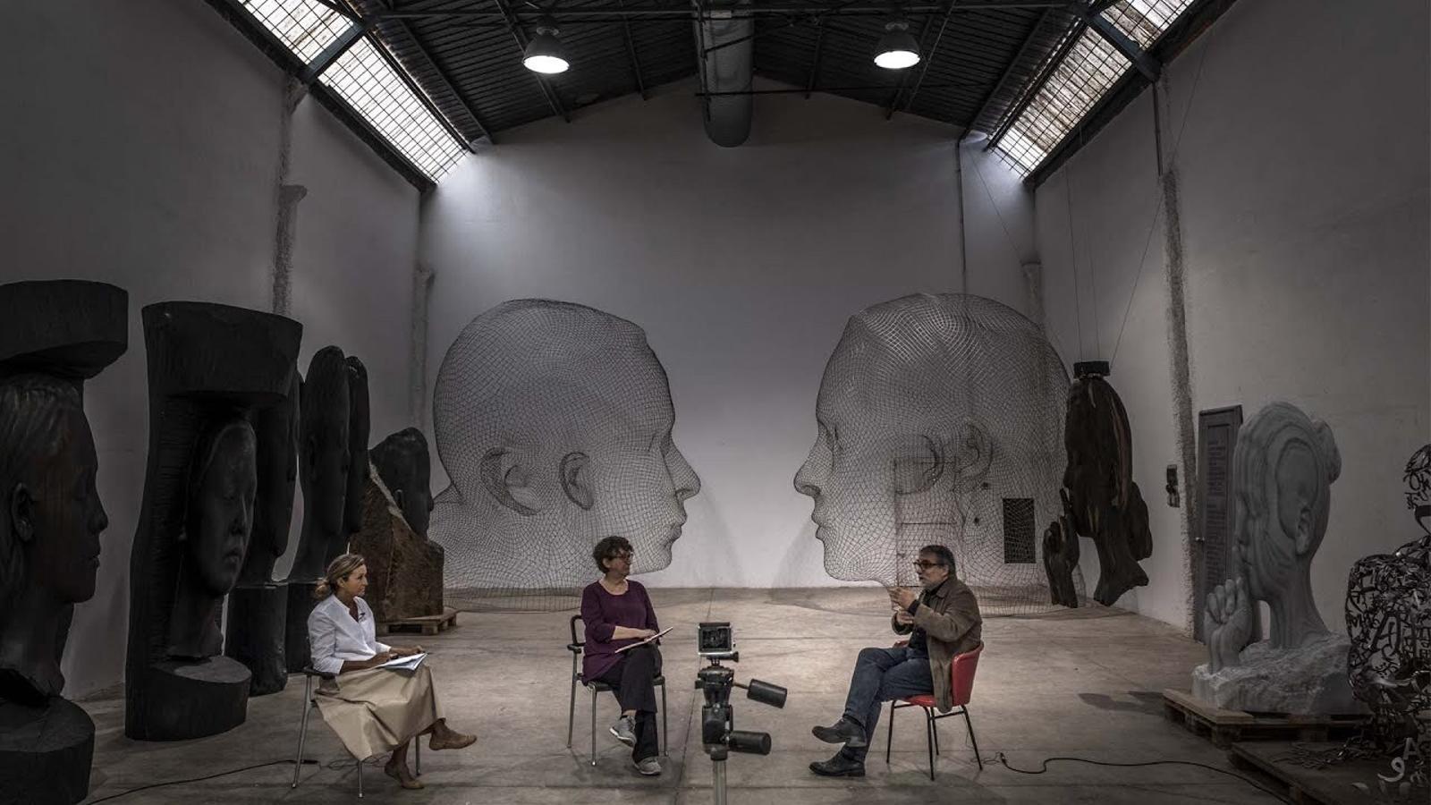 Entrevista d'Esther Vera i Catalina Serra a Jaume Plensa