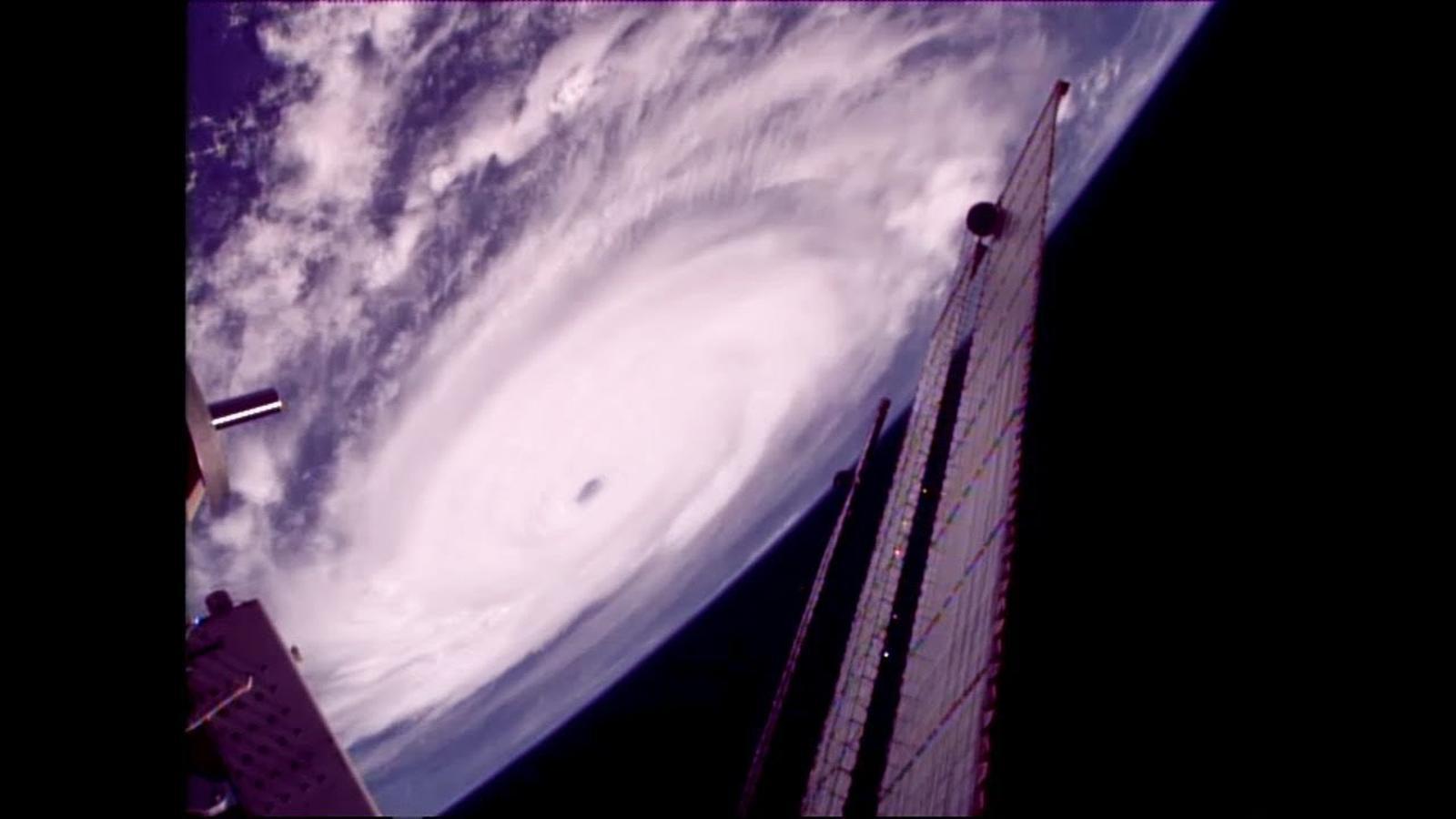 L'huracà 'Irma' vist des de l'Estació Espacial Internacional