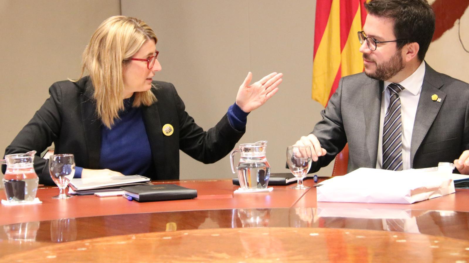 Artadi i Aragonès, en una reunió de Govern