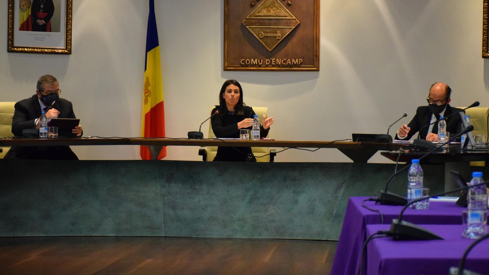 Sessió de consell del comú d'Encamp d'aquest dijous. / A. S. (ANA)