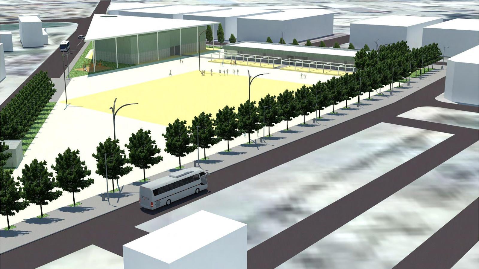 Imatge virtual de com serà el complexe d'oci i la urbanització de l'entorn.