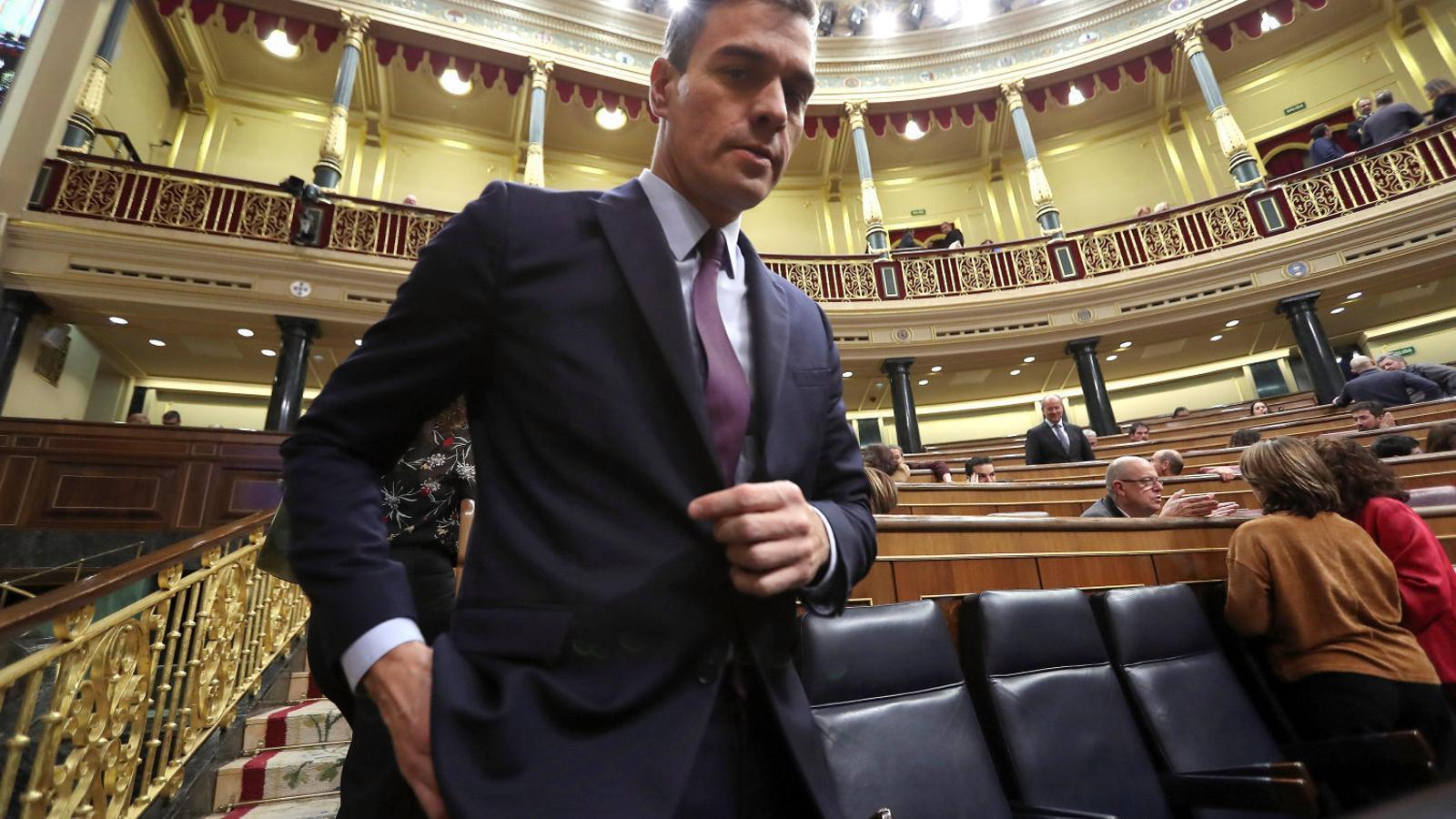 El president del govern espanyol ahir al Congrés.