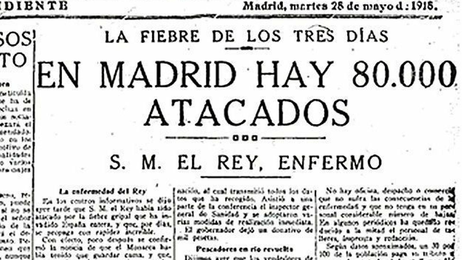 La prensa alertó de la epidemia gripal (1918)