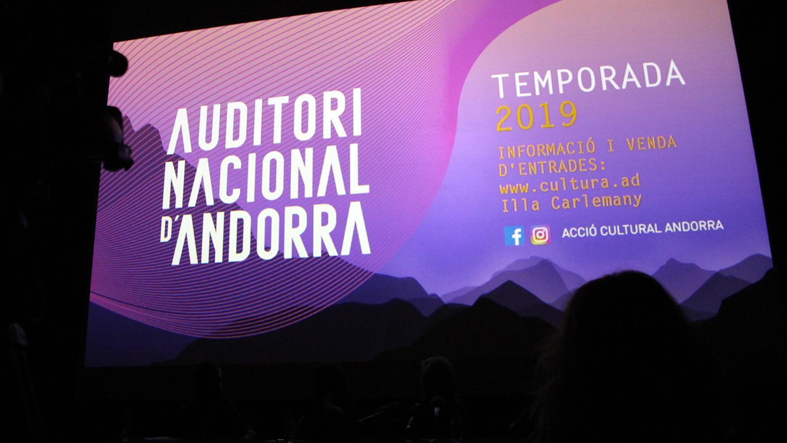 Presentació de la Temporada 2019 de l'Auditori Nacional d'Andorra. / T. N. (ANA)