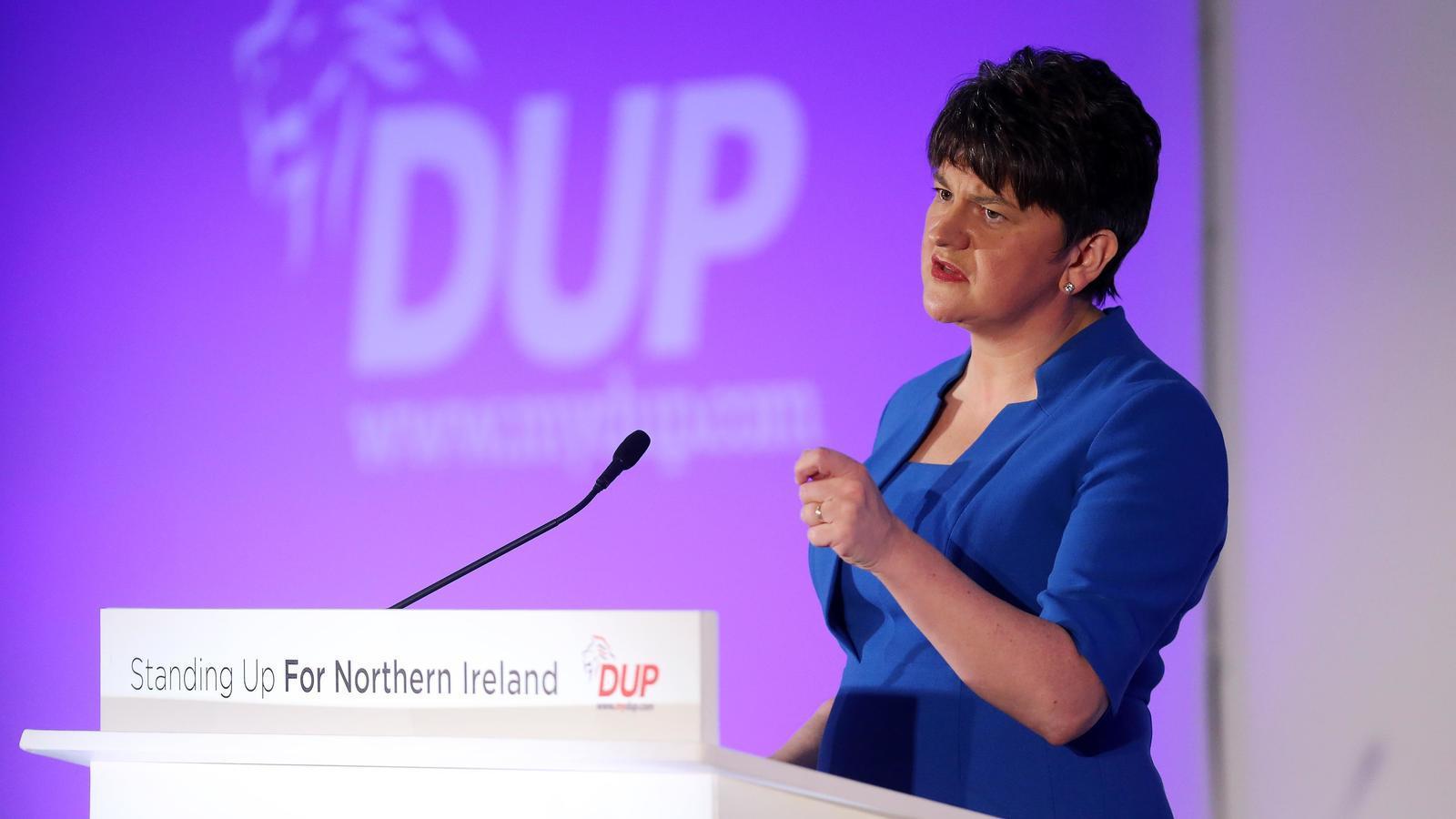 Imatge d'arxiu de la unionista Arlene Foster, primera ministra d'Irlanda del Nord, ara ja en funcions / DUP