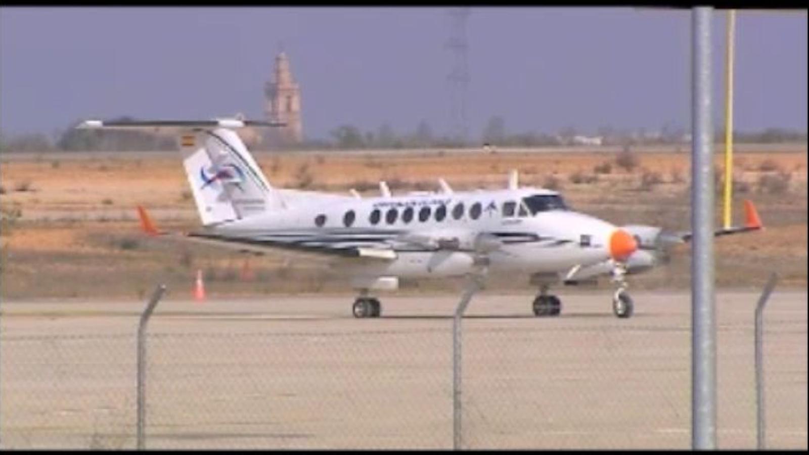 L'aeroport de Castelló veu aterrar una avioneta dos anys després d'inaugurar-se