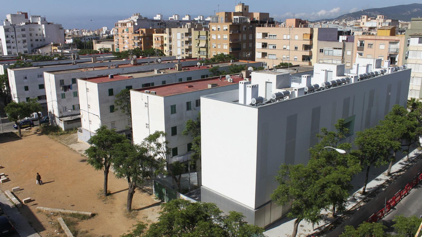 Alguns dels 25 blocs d'habitatges que té actualment el barri del Camp Redó.