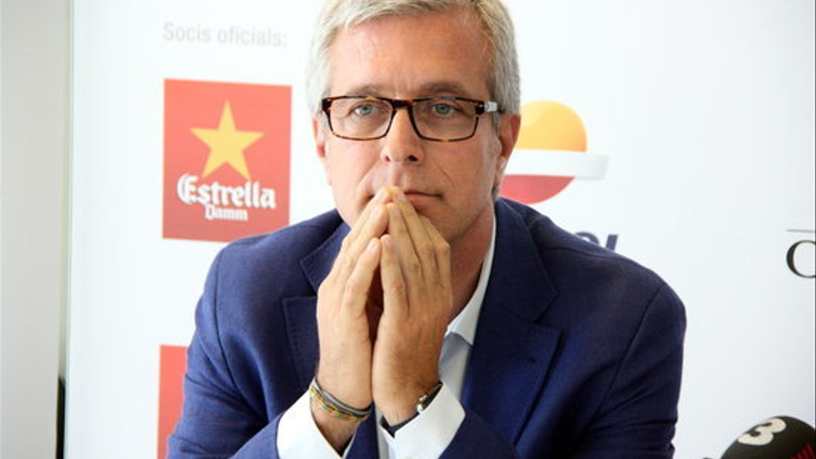 L'alcalde de Tarragona, Josep Fèlix Ballesteros, minuts abans de començar la roda de premsa