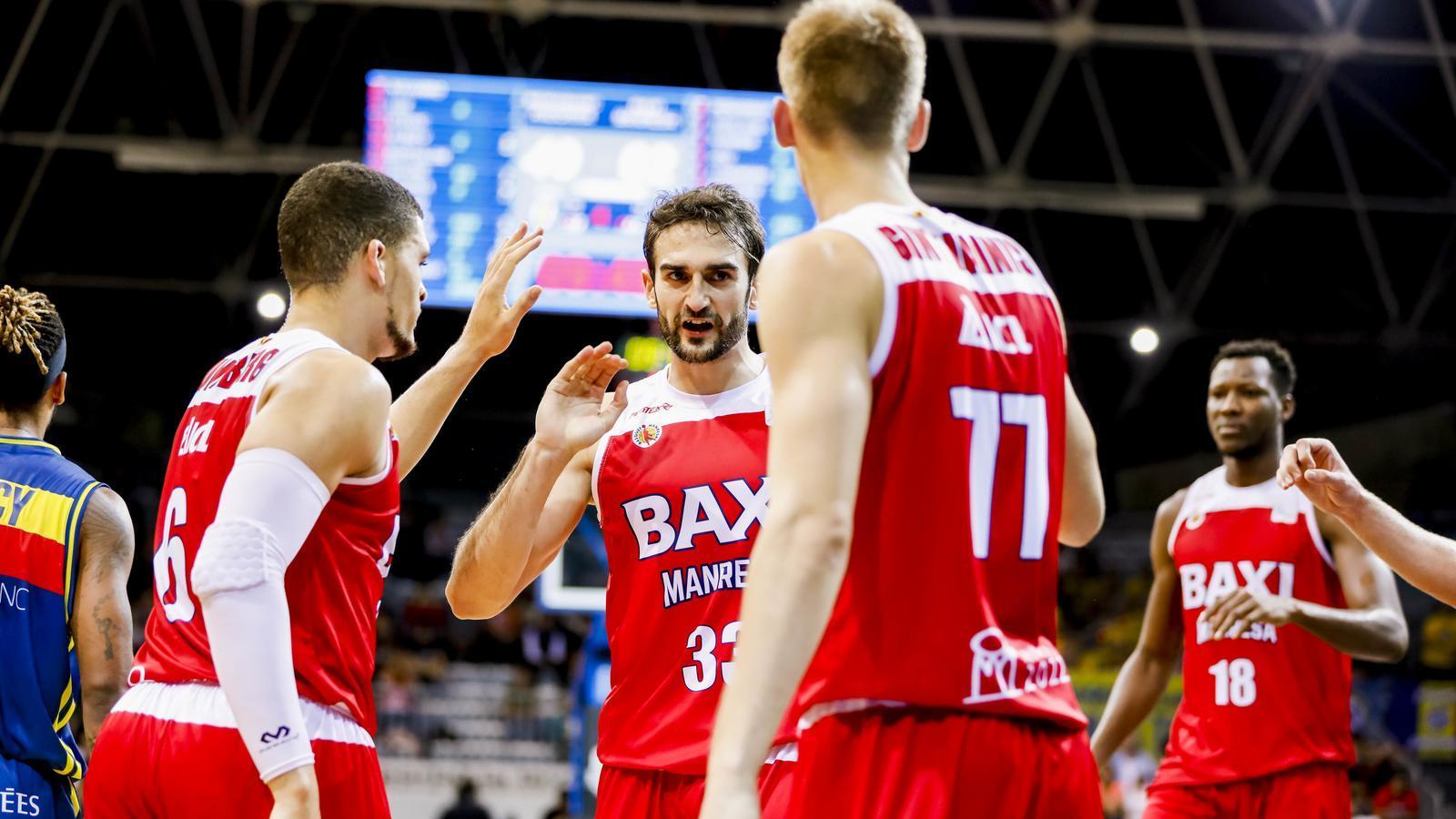 Els jugadors del Baxi Manresa, a Andorra