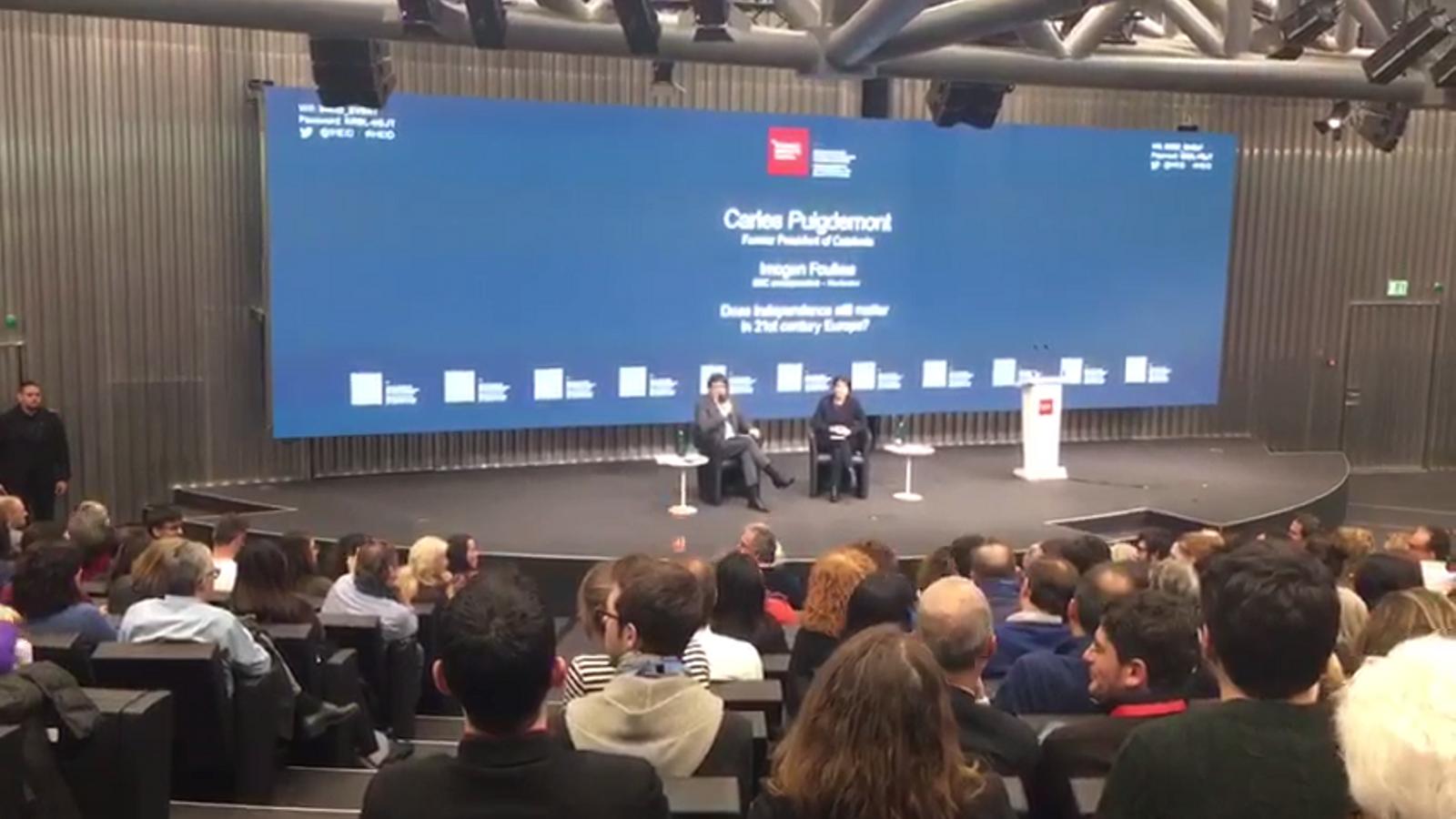 Crispació al debat a Ginebra entre partidaris i contraris de la independència