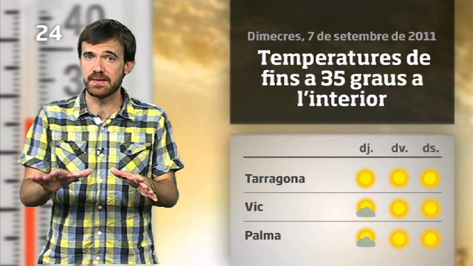 La méteo en 1 minut: calorada a partir de divendres (07/09/2011)
