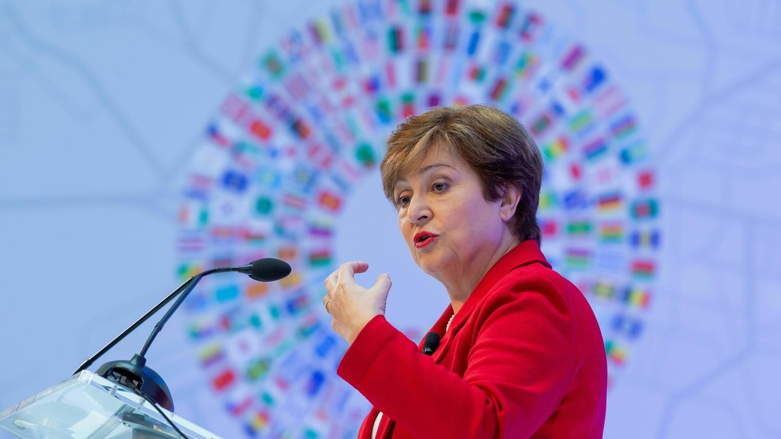 Kristalina Georgieva ha fet, aquest dimarts, el seu primer discurs al capdavant de l'FMI.