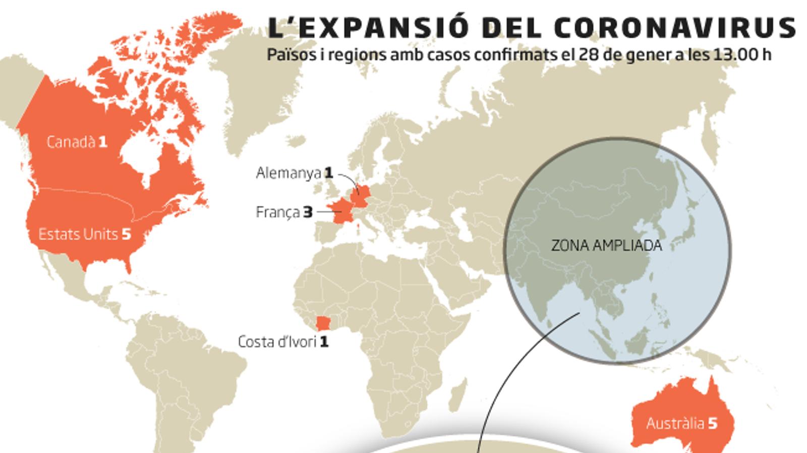 Alemanya confirma el primer cas de contagi del coronavirus a Europa d'un pacient que no havia estat a la Xina