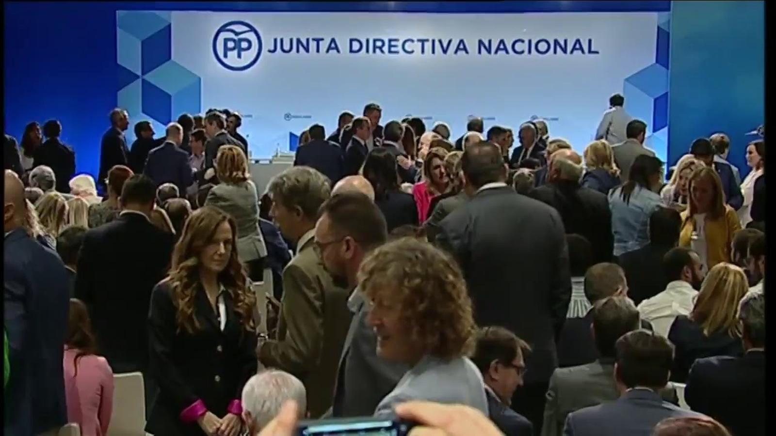 Mariano Rajoy presideix la junta directiva nacional del PP