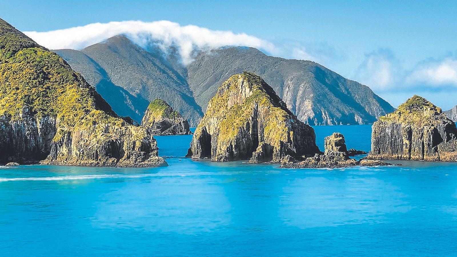 Fotografia feta des d'un ferri a Nova Zelanda.
