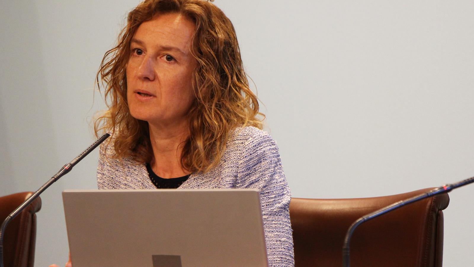La ministra de Medi Ambient, Agricultura i Sostenibilitat, Sílvia Calvó, durant la compareixença posterior al consell de ministres. / M. T. (ANA)