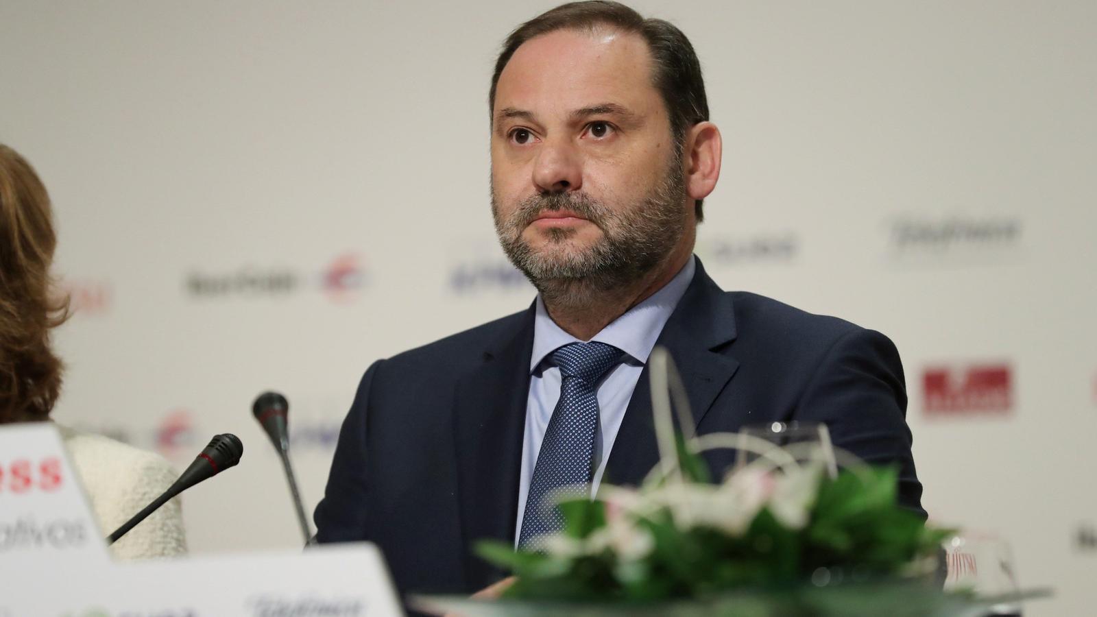 El ministre de Foment, José Luis Ábalos, aquest dilluns en un esmorzar informatiu