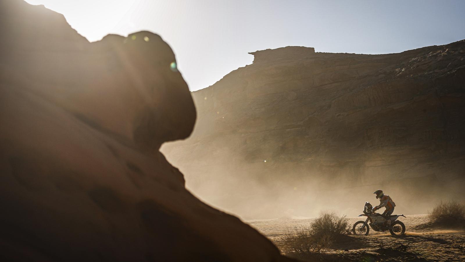 Un participant durant una etapa del Dakar 2020