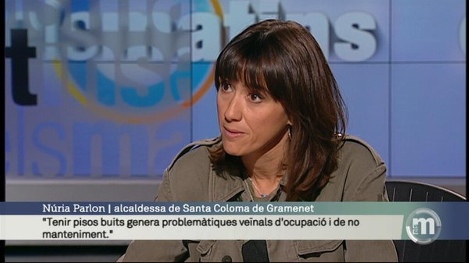 L'alcaldessa de Santa Coloma de Gramenet, Núria Parlon, durant l'entrevista a 'Els Matins' de TV3