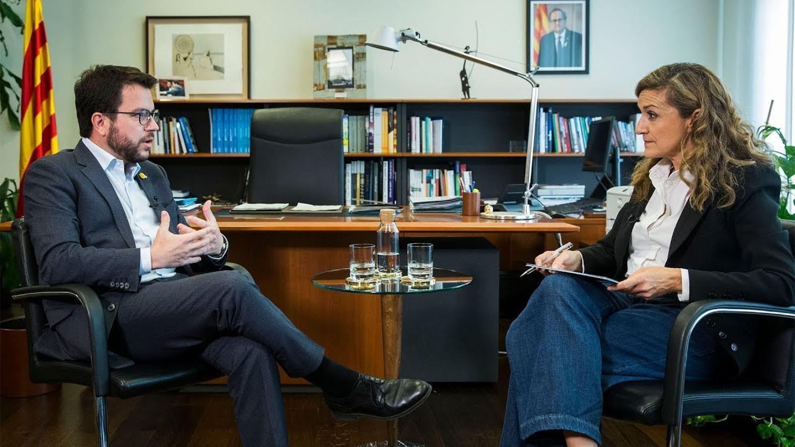 Entrevista d'Esther Vera a Pere Aragonès