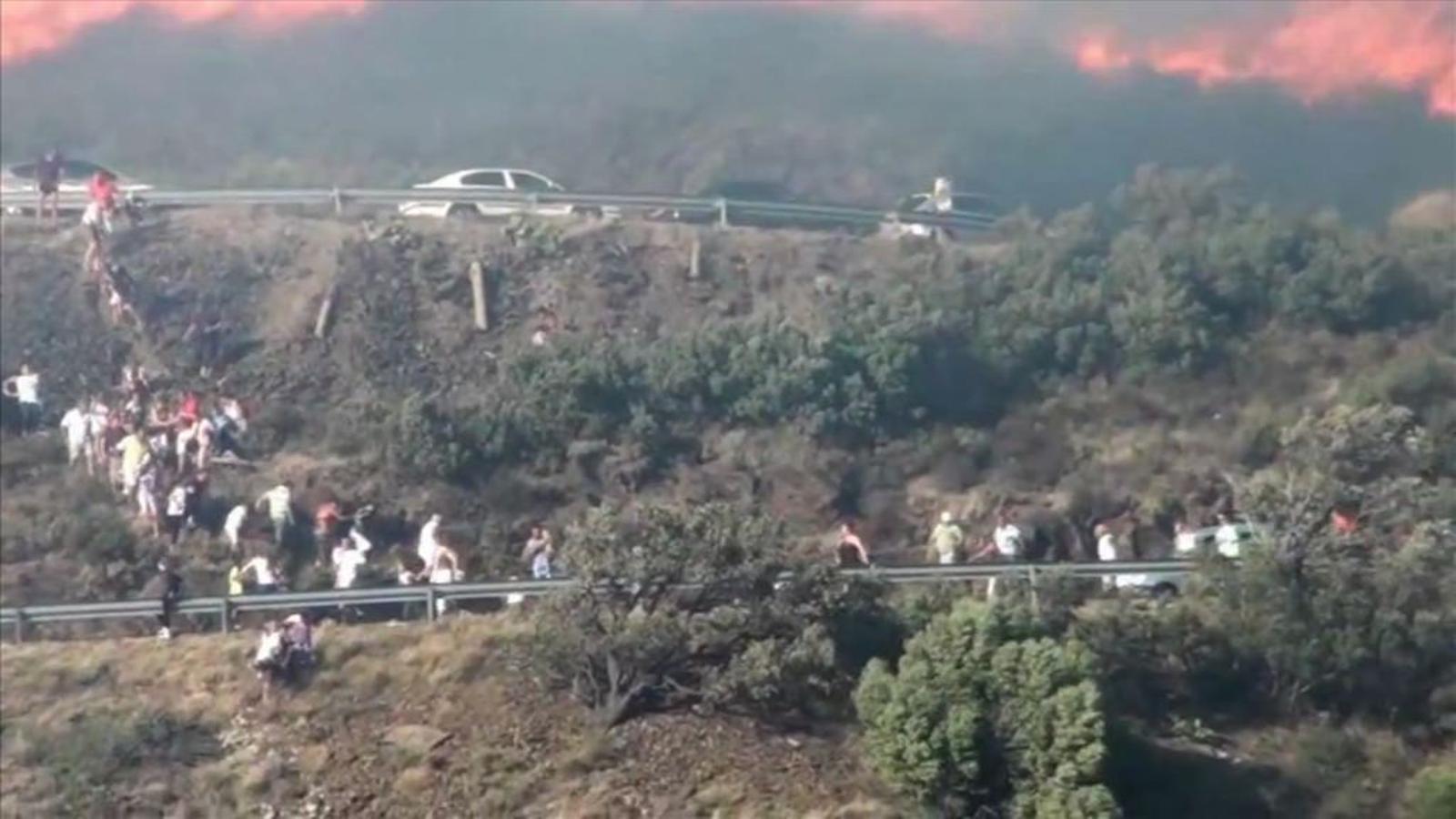 Fugint de les flames a Portbou