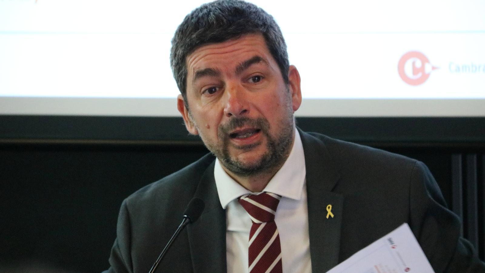 El president del Consell de Cambres de Catalunya, Joan Canadell, en una imatge del març passat.