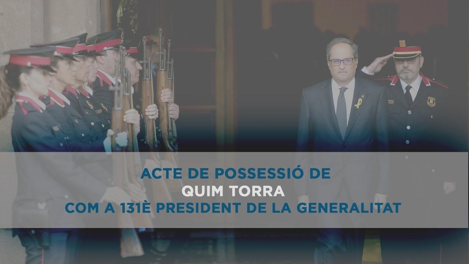 Presa de possessió de Quim Torra com a 131è president de la Generalitat