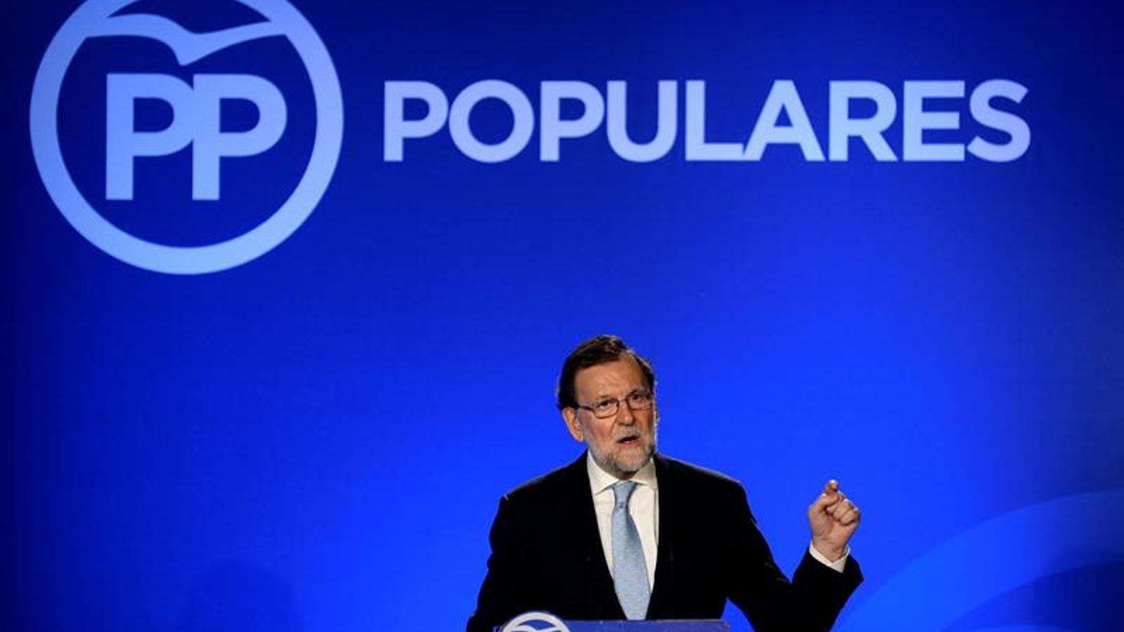 El president espanyol en funcions, Mariano Rajoy, ha presidit aquest divendres la junta autonòmica del PP a Castella i Lleó. EFE