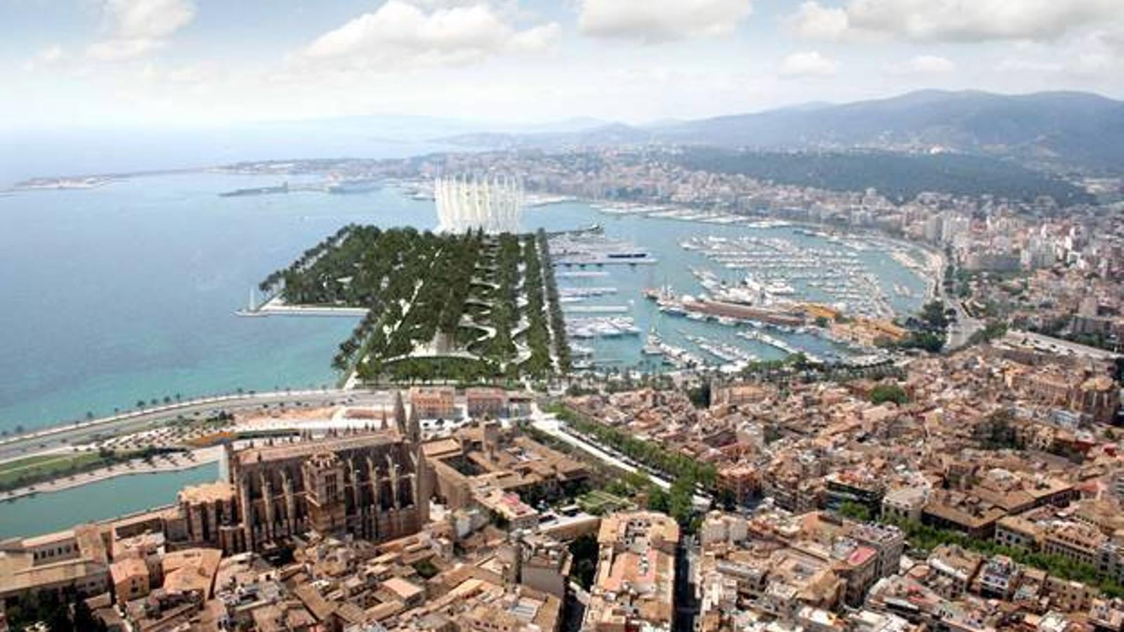 Imatge del projecte de l'òpera i la remodelació de la badia de Palma.