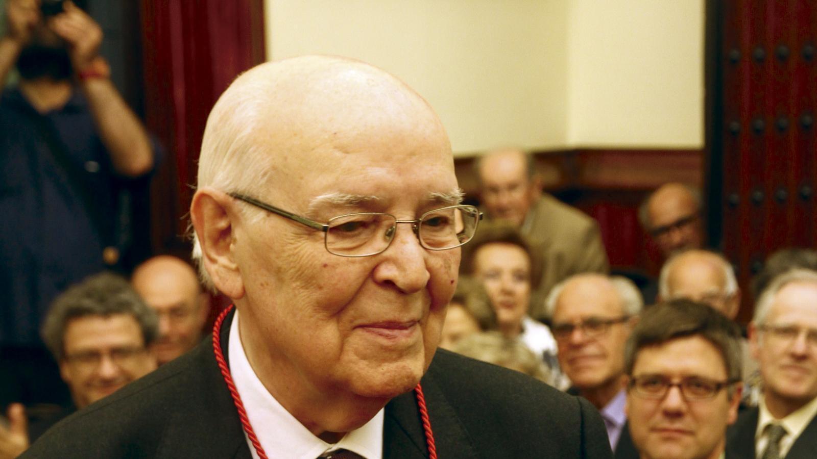 Josep Maria Domènech i Fargas el 2012 quan va rebre la Medalla d'Honor de l'Ajuntament de Terrassa