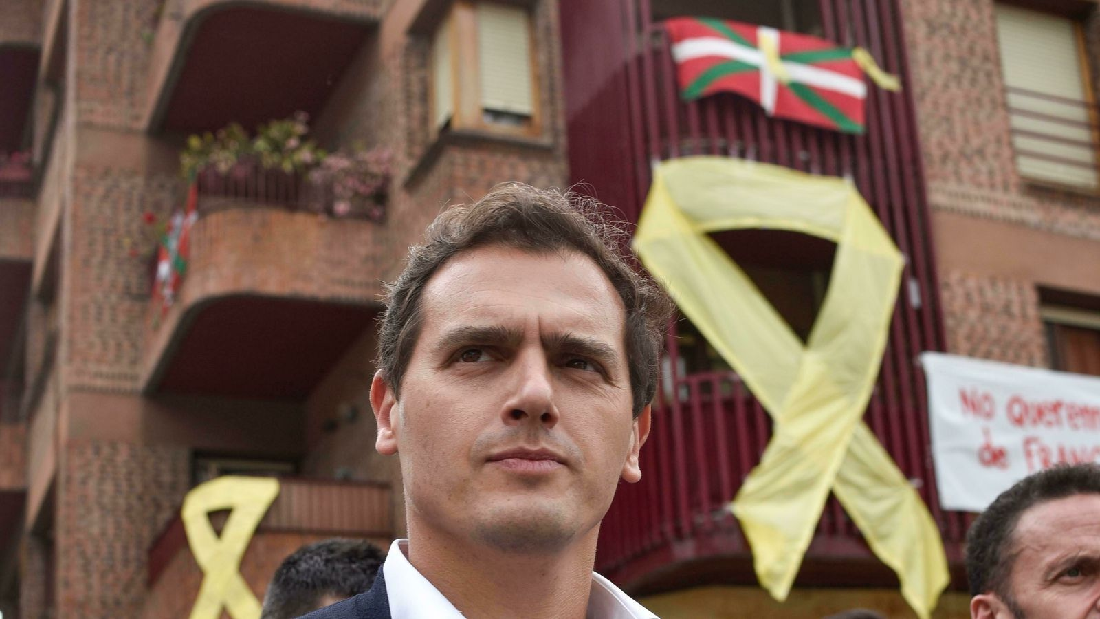 Albert Rivera visita Miravalles, a Biskaia / EFE