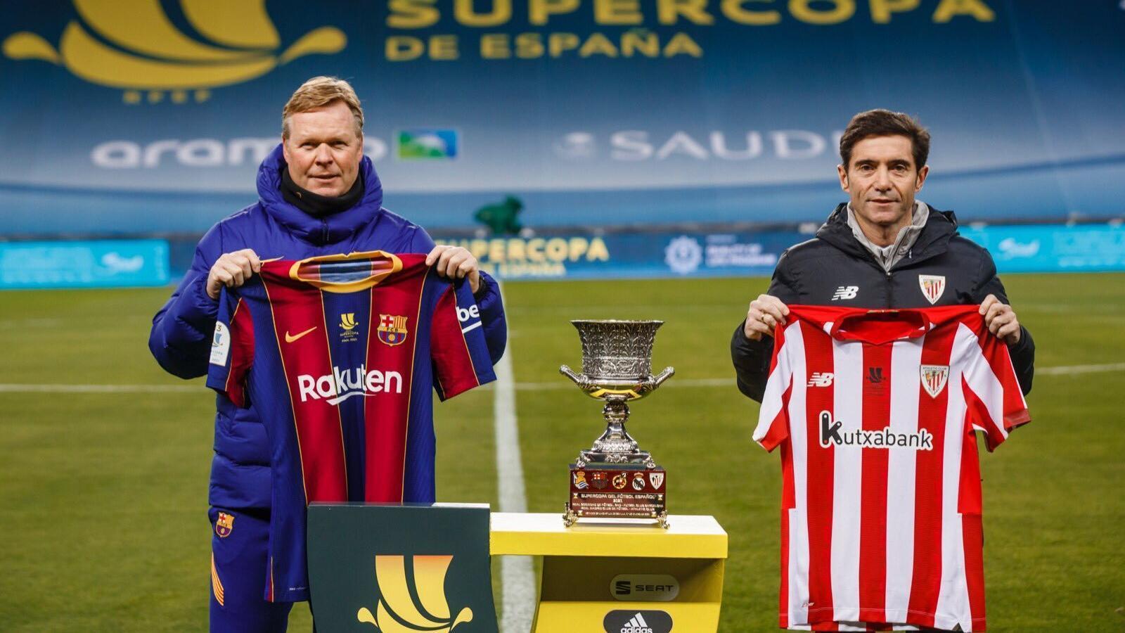 Koeman i Marcelino posen a la prèvia de la final de la Supercopa d'Espanya.