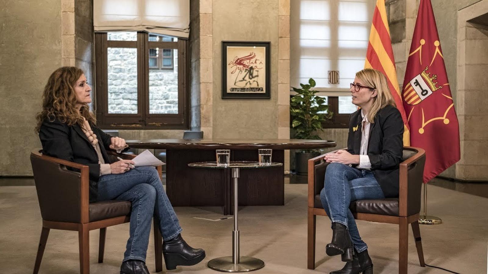 Entrevista d'Esther Vera a  la consellera de la Presidència, Elsa Artadi