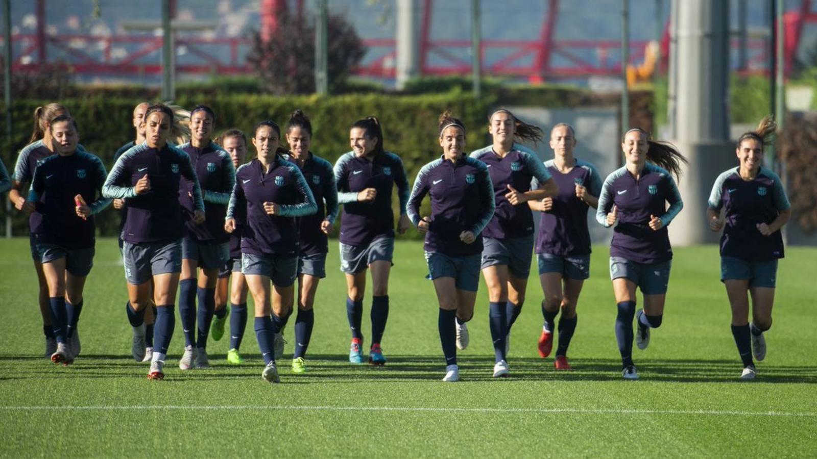 Imatge de l'entrenament del Barça