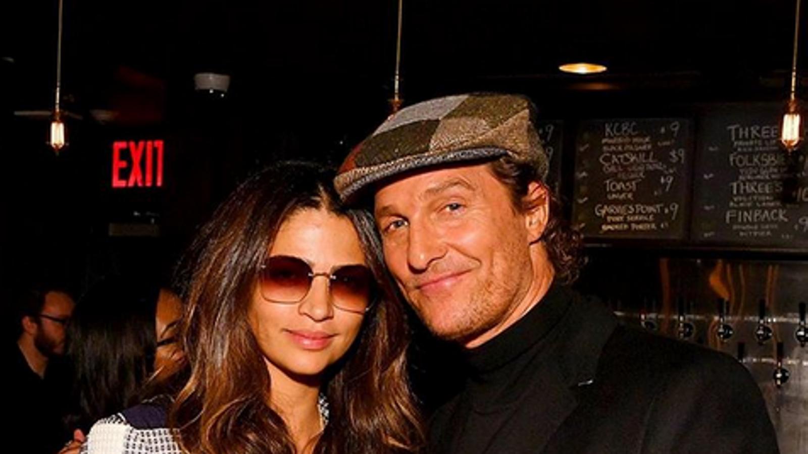 Matthew McConaughey amb la seva companya, Camila Alves