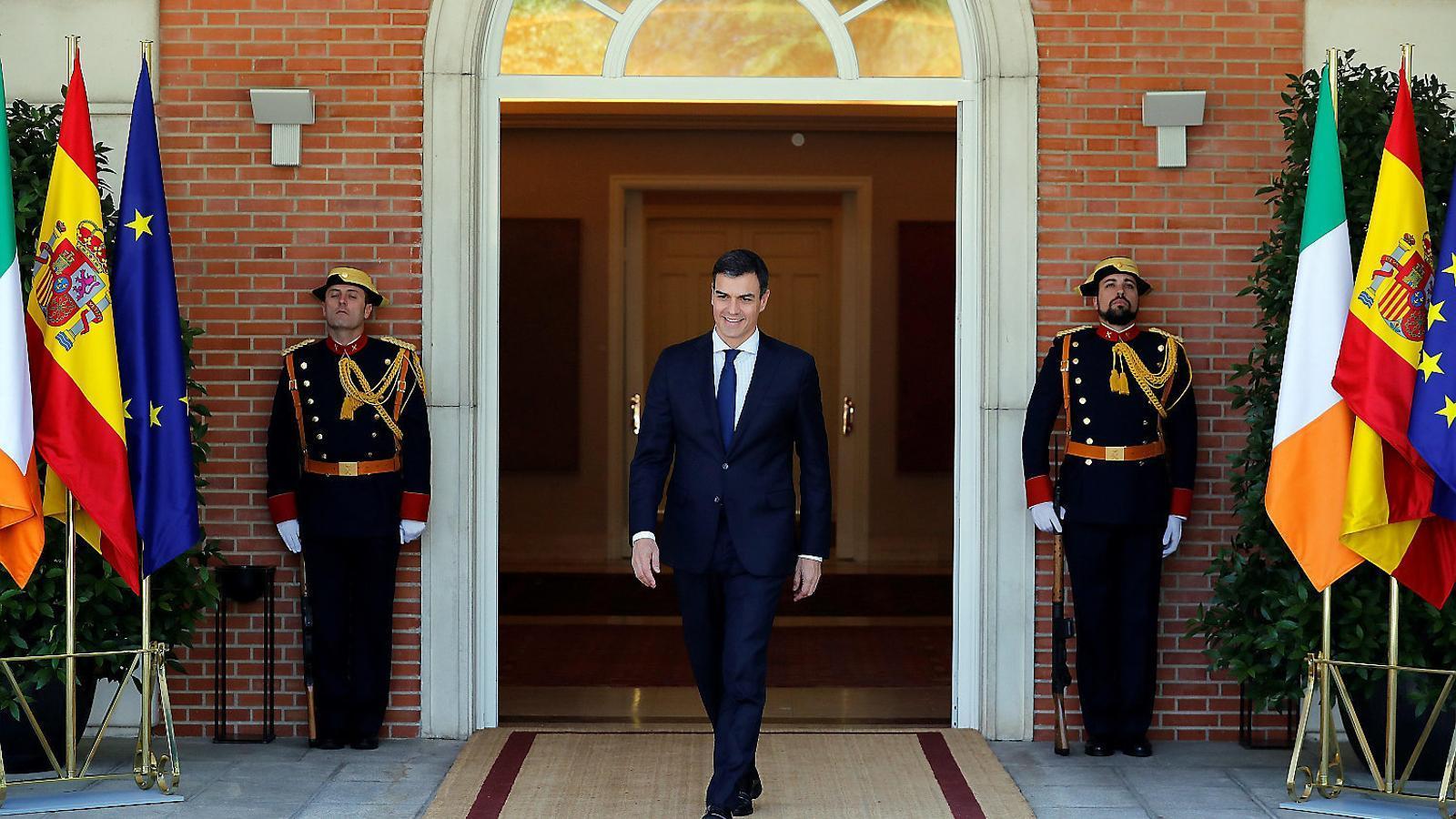 El president espanyol, Pedro Sánchez, dijous passat a la Moncloa.