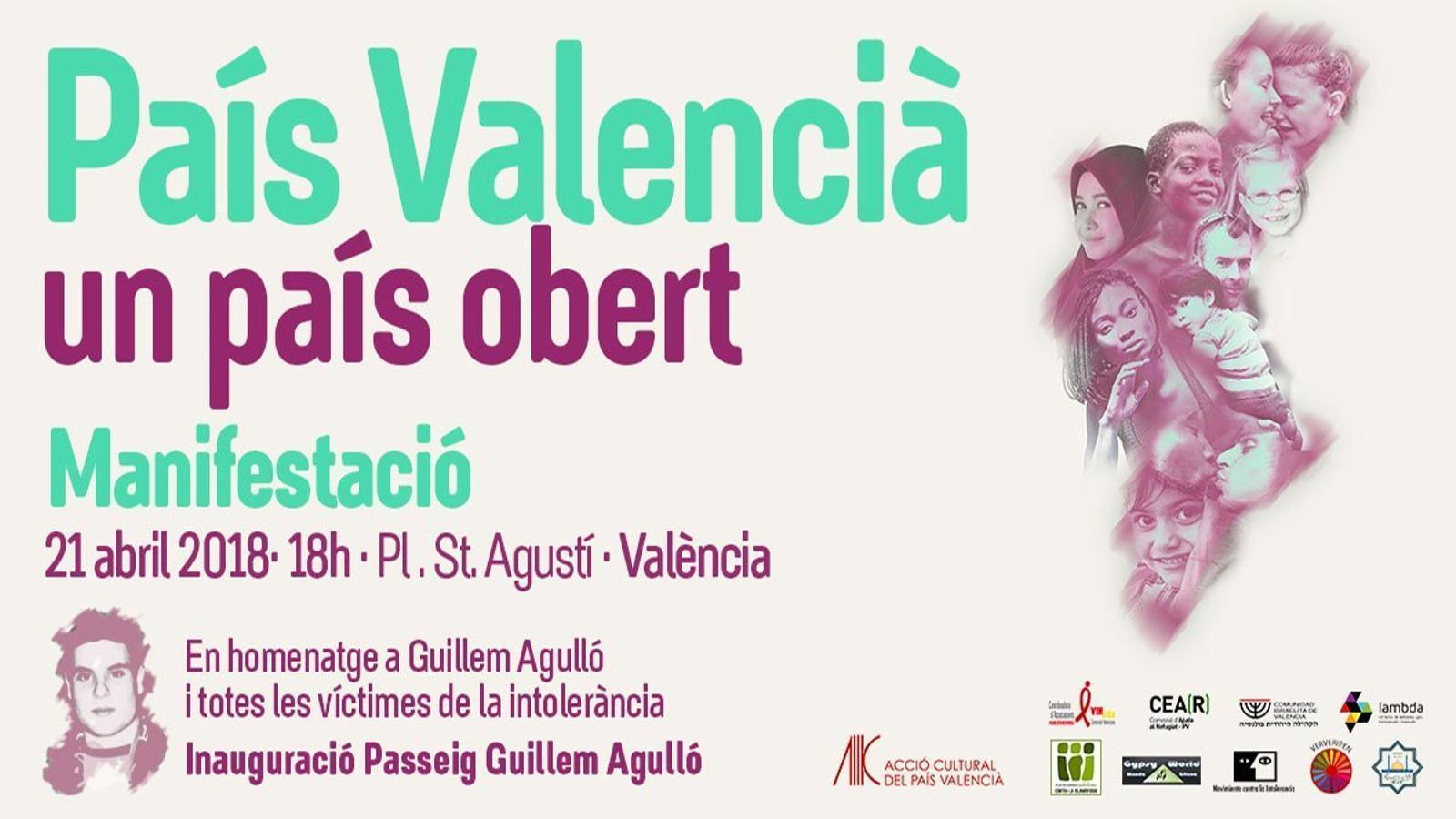 Cartell de la manifestació del proper 21 d'abril a València.