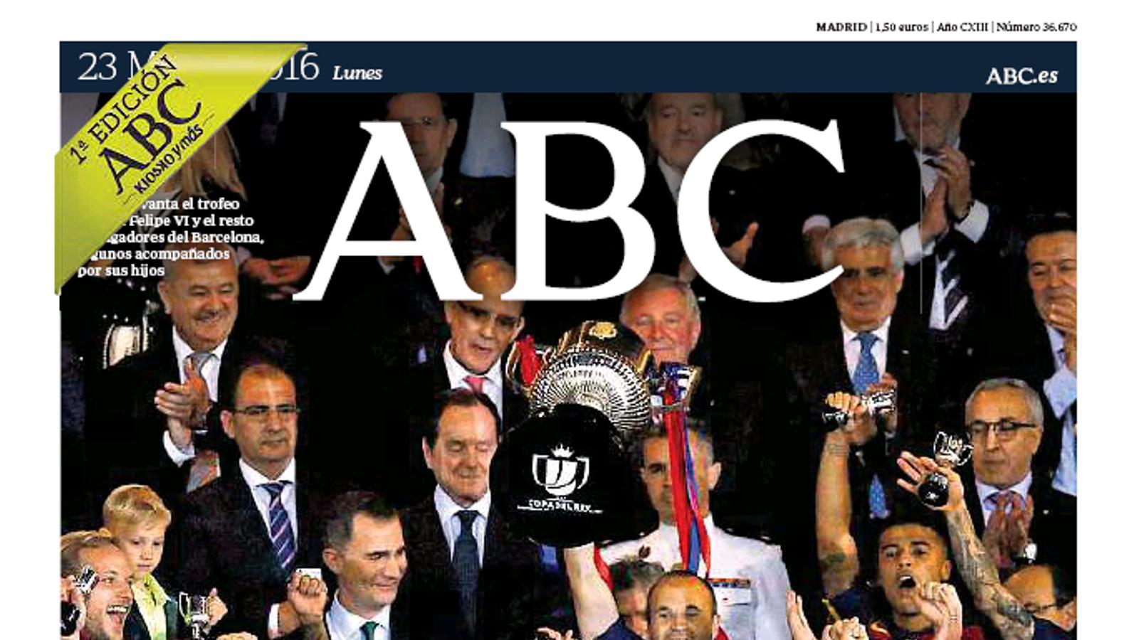 Portada del 'ABC'