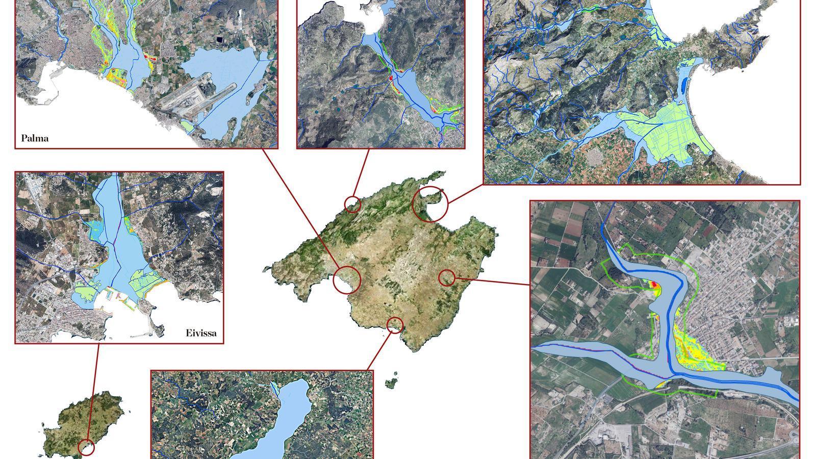 Palma, Sóller, Pollença i Campos: poblacions amb risc d'inundació