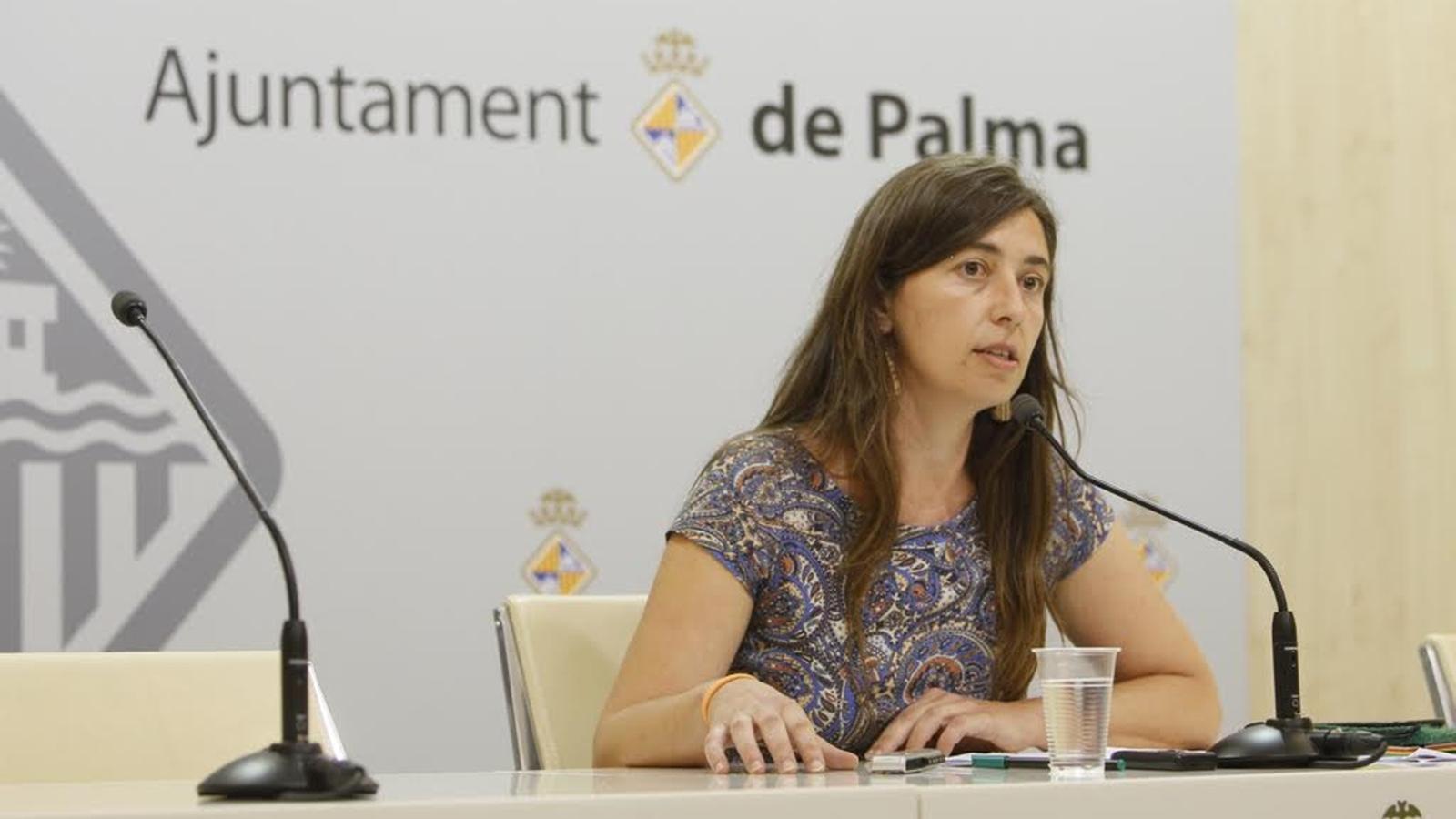 Neus Truyol (MÉS) s'ha estrenat com a portaveu de l'equip de govern de Palma. ISAAC BUJ