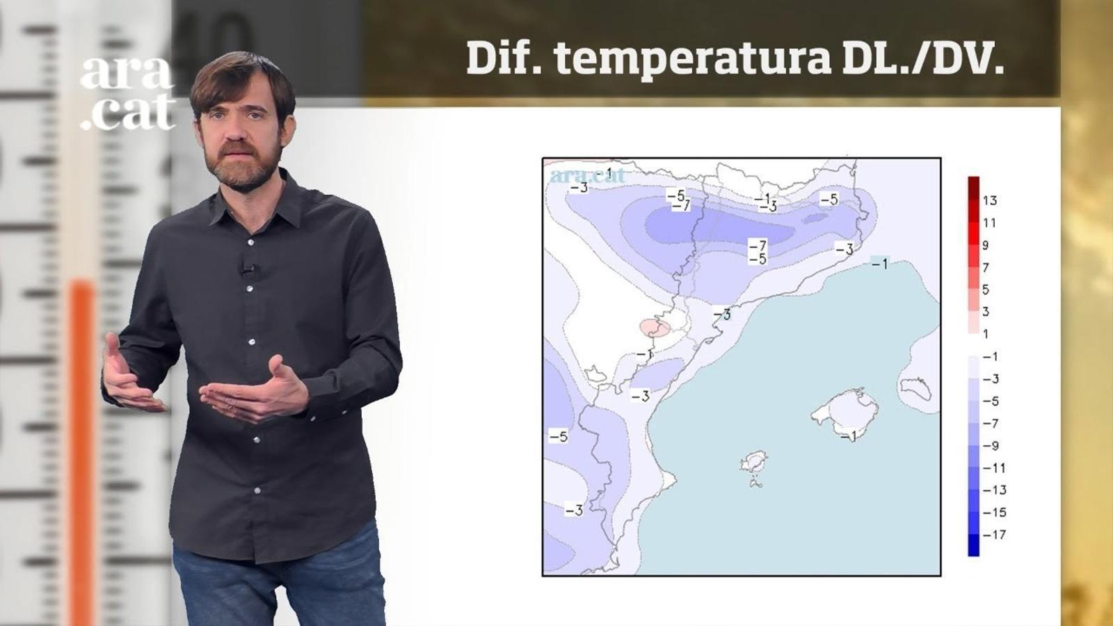 La méteo en 1 minut: més fred com més avanci la setmana