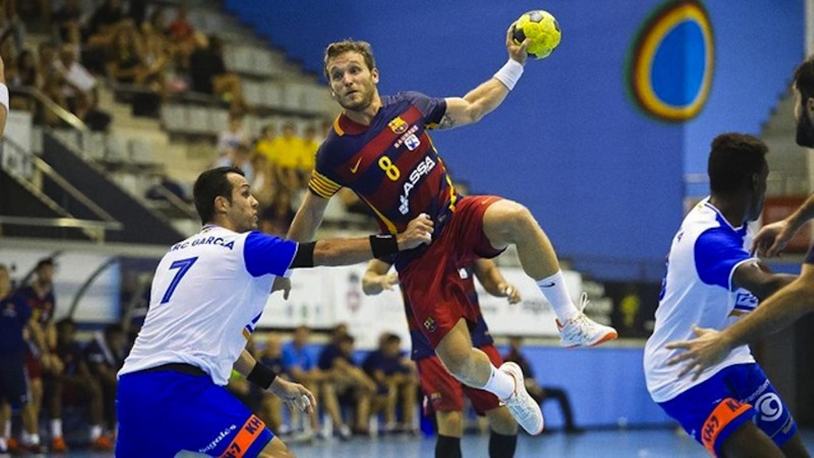 Víctor Tomàs durant la Supercopa de Catalunya / FCB