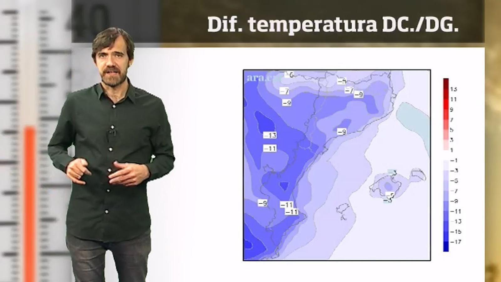 La méteo en 1 minut: camí d'un cap de setmana de pluges i més fred