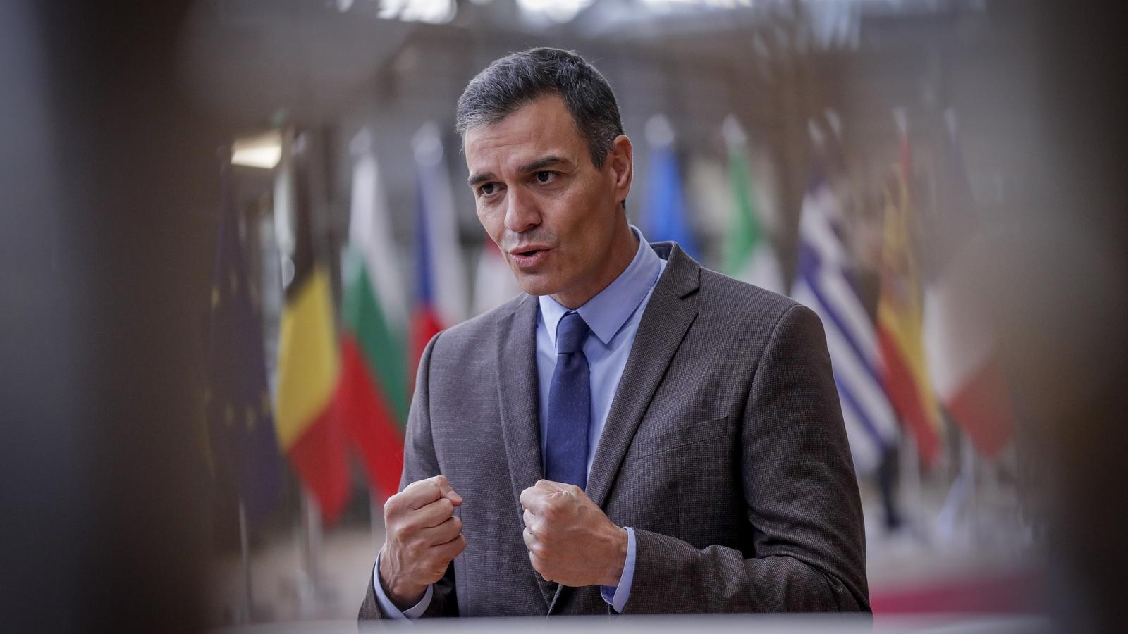 El president del govern espanyol, Pedro Sánchez, durant la reunió del consell europeu a Brussel·les.